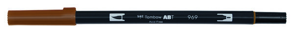 Chocolate ABT-969 Tombow dual brush