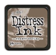 Frayed burlap | Ranger Tim Holtz distress mini ink