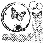 Mini Butterfly Collage | Template 6x6""