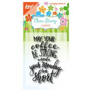 Coffee Monday | Joy! Crafts clear stamps