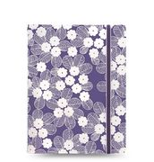 Filofax A5 Purple & white