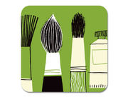 Gallery Brushes Coaster Green