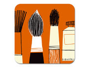Gallery Brushes Coaster Orange