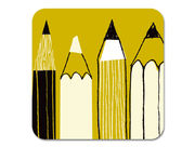 Gallery Pencils Coaster Olive