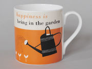 Happiness Gardening Mug Orange