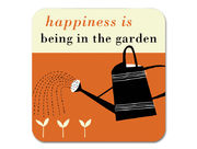 Happiness Gardening Coaster Orange