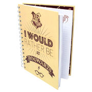Harry Potter I Would Rather Be at Hogwarts A5 notebook