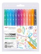 Pastels | Tombow twintone dual-tip markers (12)
