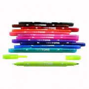 Tombow twintone dual-tip markers (12) bright