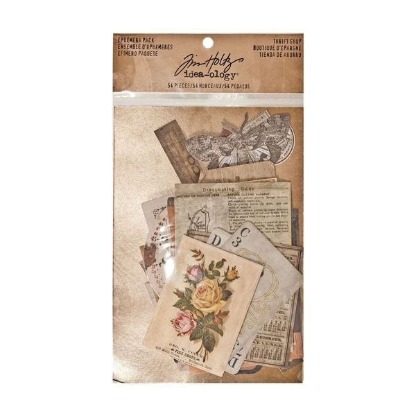 Idea-ology Tim Holtz ephemera pack thrift shop