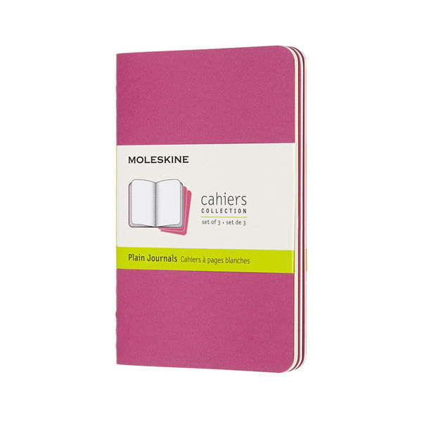 Blanko | Pocket Cahier x 3 | Kinetic pink | Moleskine