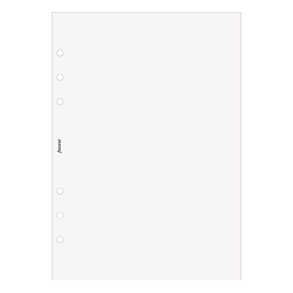 A5 Filofax white plain notepaper