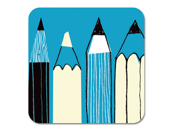 Gallery Pencils Coaster Turquoise