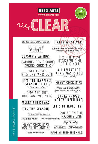 Off-Beat holiday messages | clear stamps