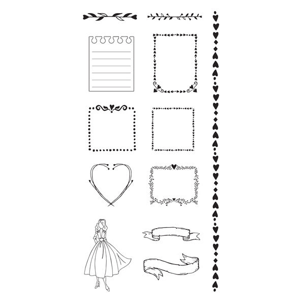 Frames | Cling stamps
