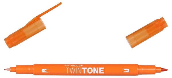 Orange 28 | Tombow twintone dual-tip markers